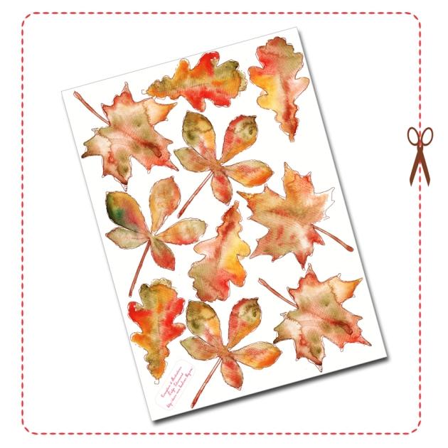 free printable Door Coronet gratuit couronne de porte automne 8