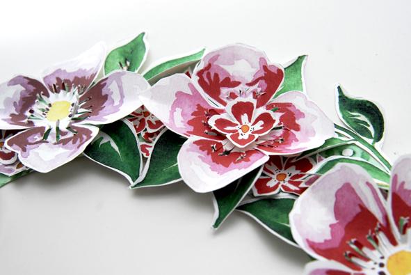 free printable Door Coronet gratuit couronne de porte fleur 5