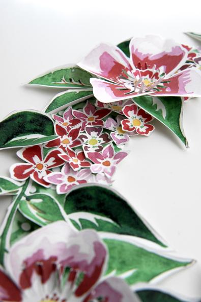 free printable Door Coronet gratuit couronne de porte fleur 6