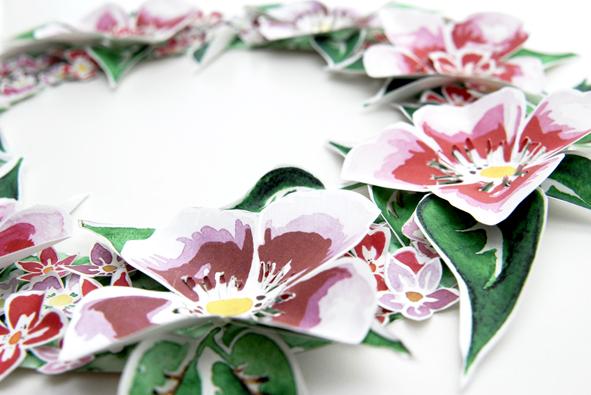 free printable Door Coronet gratuit couronne de porte fleur 7