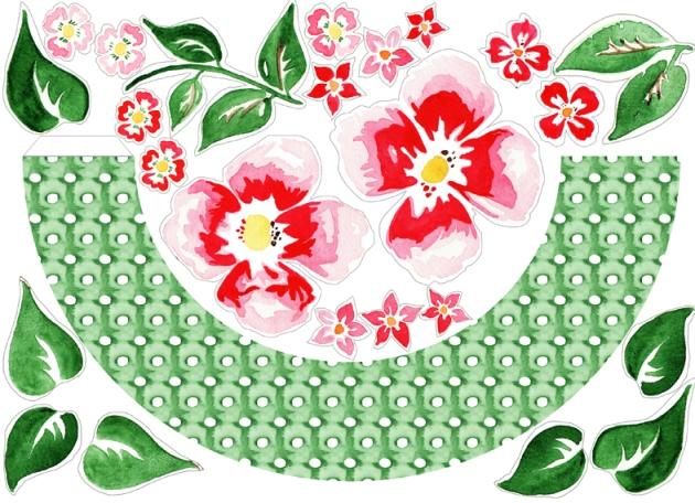 free printable Door Coronet gratuit couronne de porte fleur à imprimer 1