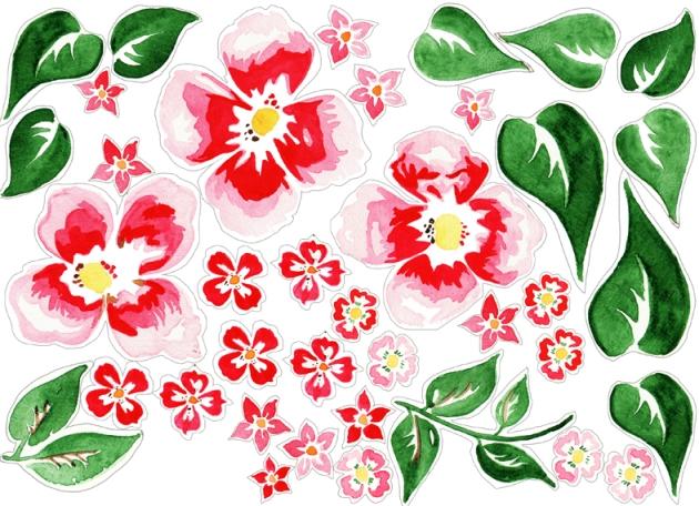 free printable Door Coronet gratuit couronne de porte fleur à imprimer 2