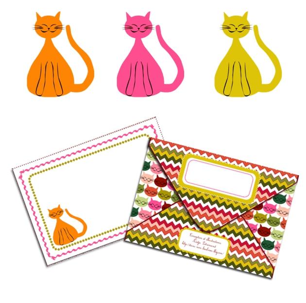 free printable envelop gratuit enveloppe chat visuel