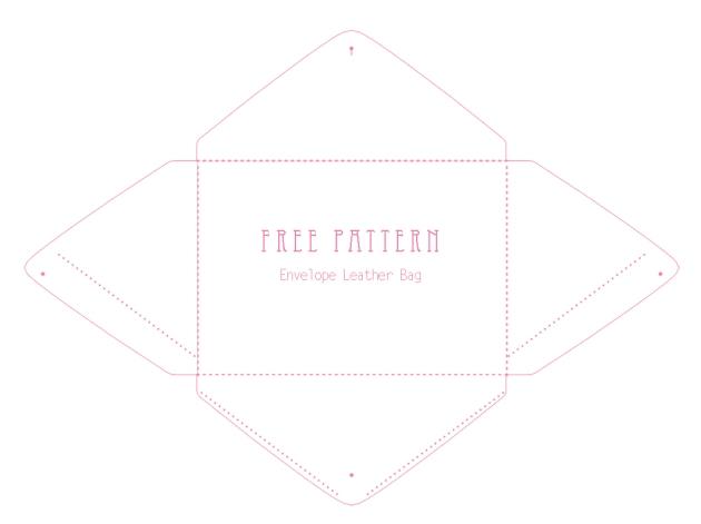 free printable envelope bag pattern 1