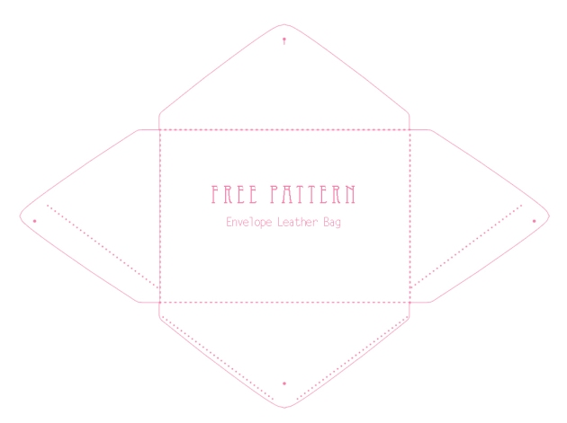 free printable envelope bag pattern 1