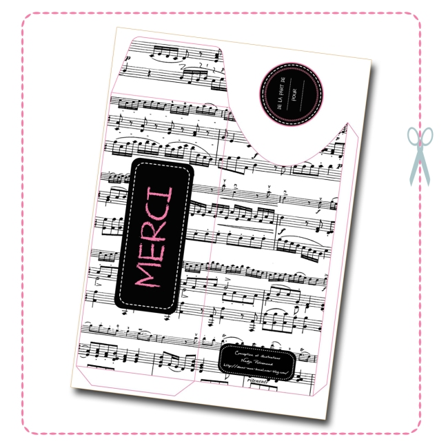 free printable envelope music design 1