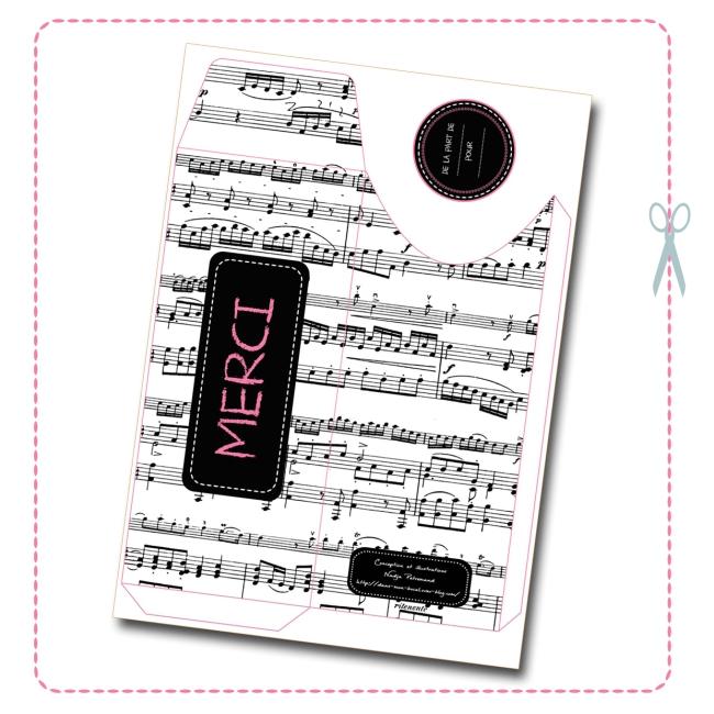 free printable envelope music design 1