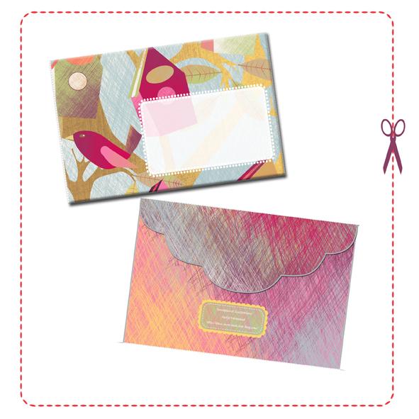 free printable enveloppe birdhouse 2