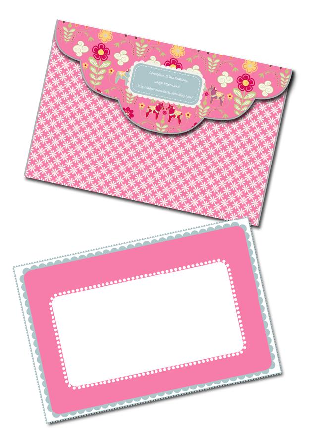 free printable enveloppe dala horse a imprimer 1