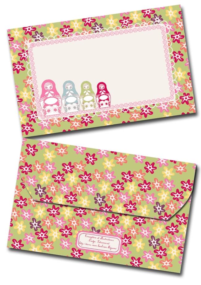 free printable enveloppe matriochka.psd