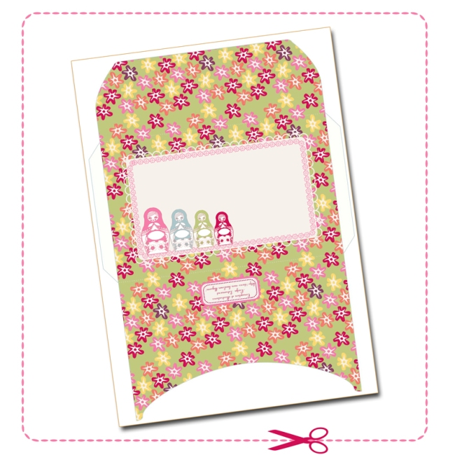 free printable enveloppe matriochka