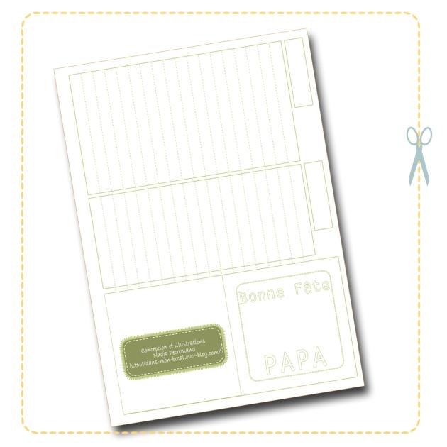free printable father day box boite fête des pères gratuit à colorier 2