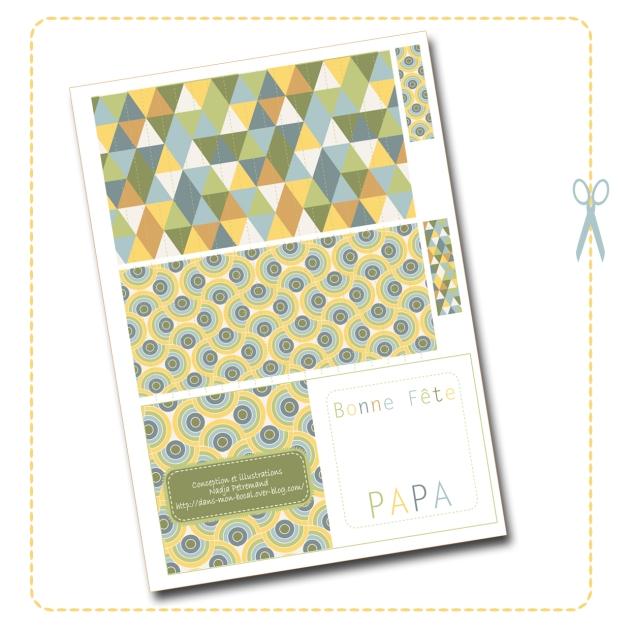 free printable father day gift box boite cadeau fête des père gratuit 2
