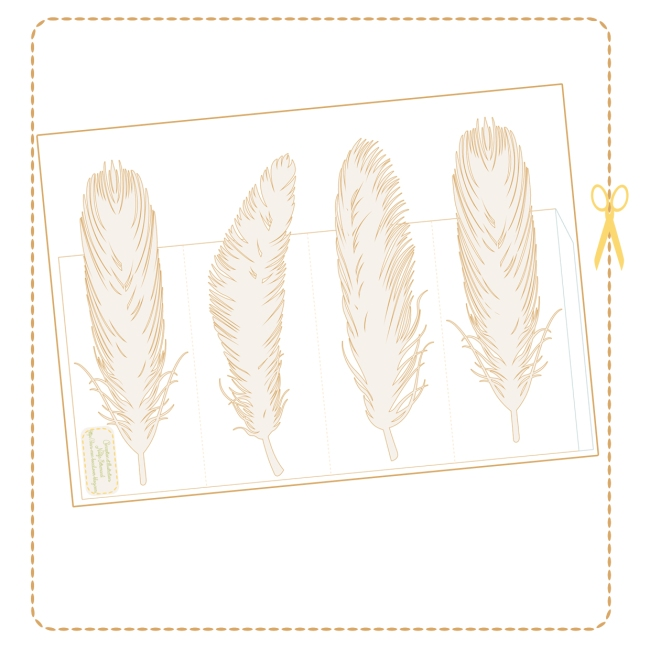 free printable feather tealight holder 2