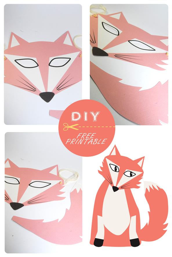 Un masque pour le carnaval dans mon bocal - Masque de renard a imprimer ...