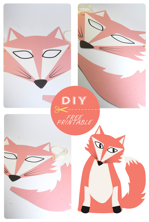 free printable fox mask 5