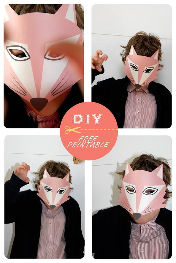 free printable fox mask 6