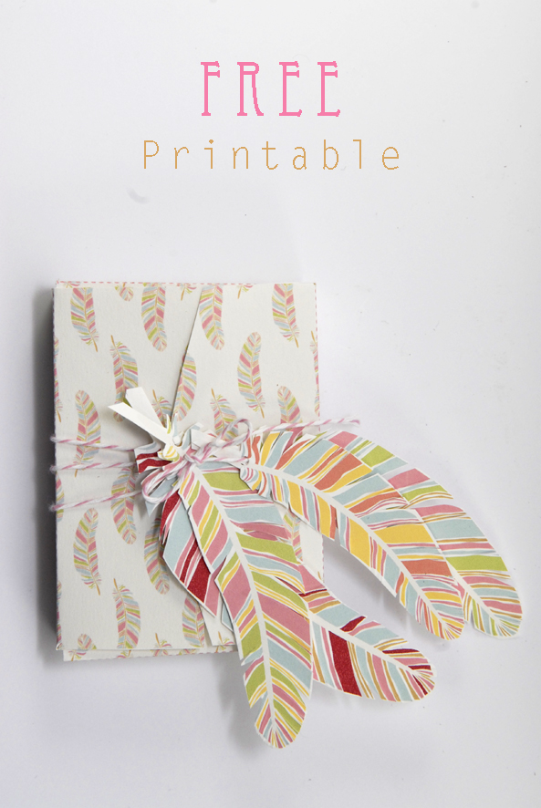 free printable gift box feather pattern 1