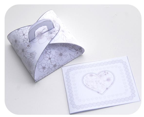 free printable gift box gratuit boite cadeau à colorier 1