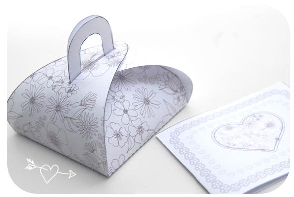 free printable gift box gratuit boite cadeau à colorier 2