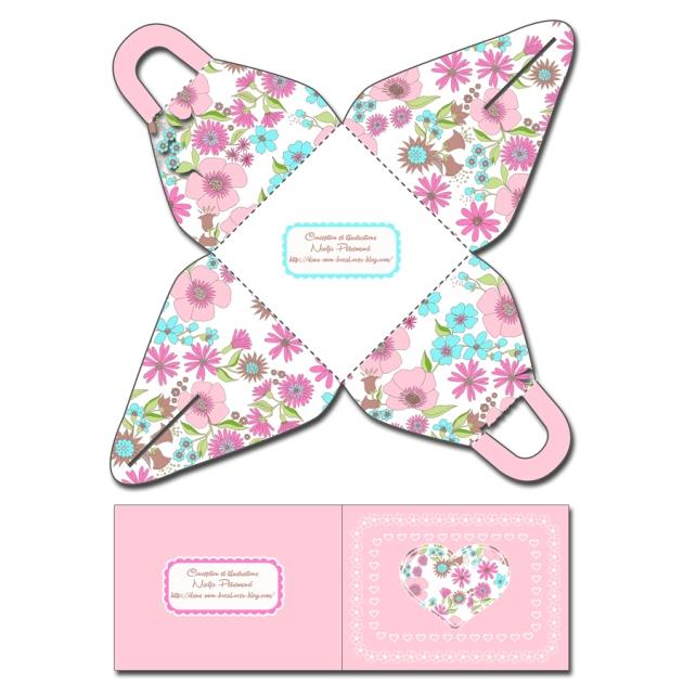 free printable gift box gratuit boite cadeau copie