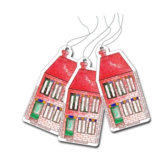 free printable gift label house gratuit étiquette maison 1