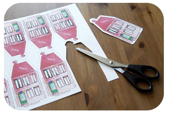 free printable gift label house gratuit étiquette maison