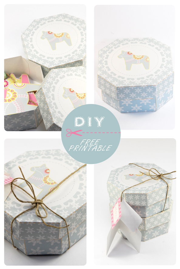 free printable hexagone box 5