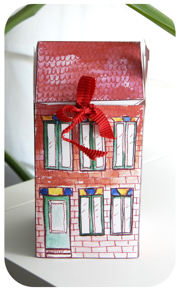 free printable house gift box boite cadeau maison à imprimer 6