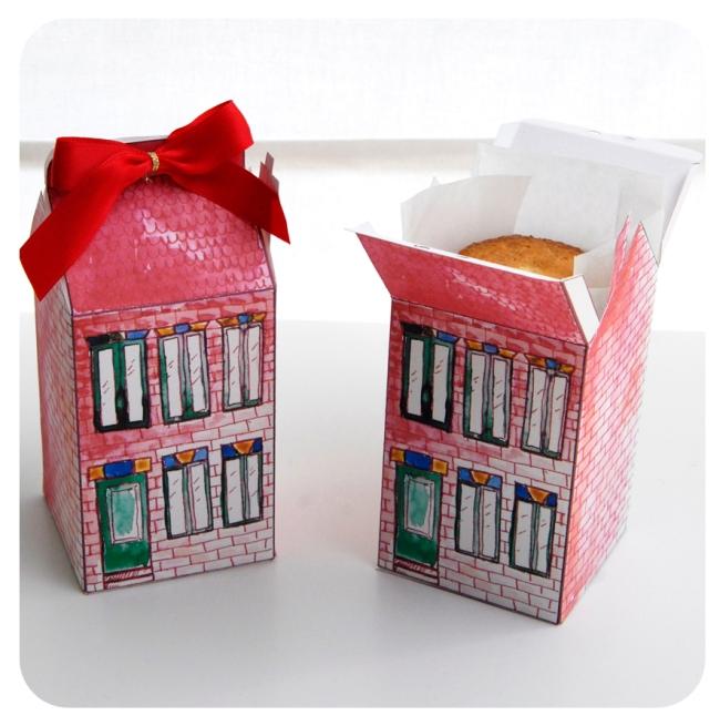 free printable house gift box boite cadeau mini maison à imprimer 1