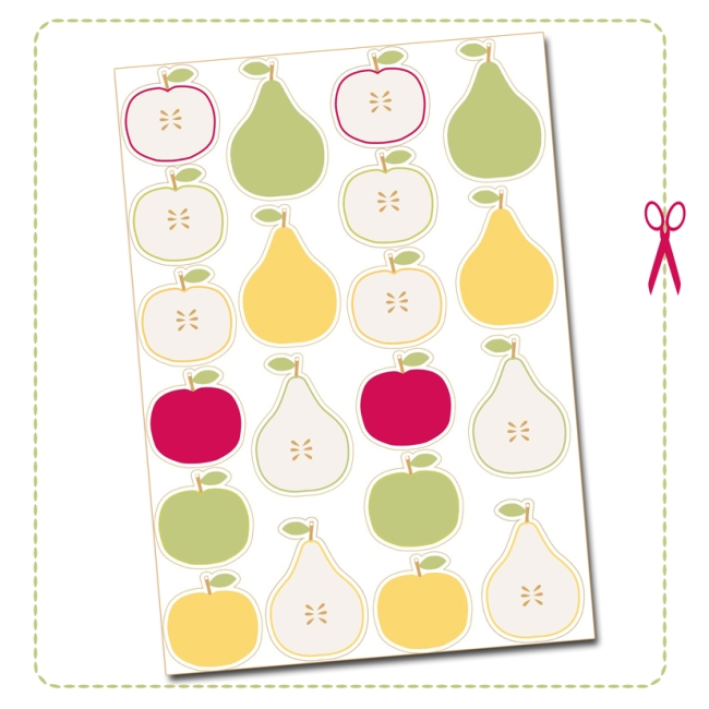 free printable label apple pear
