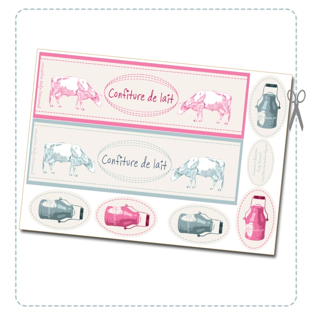 free printable label milk jam box