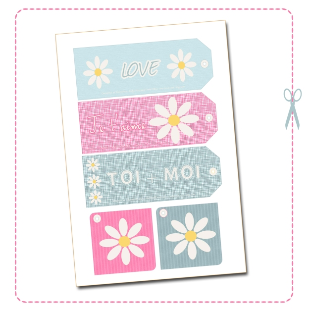 free printable label tag valentine day