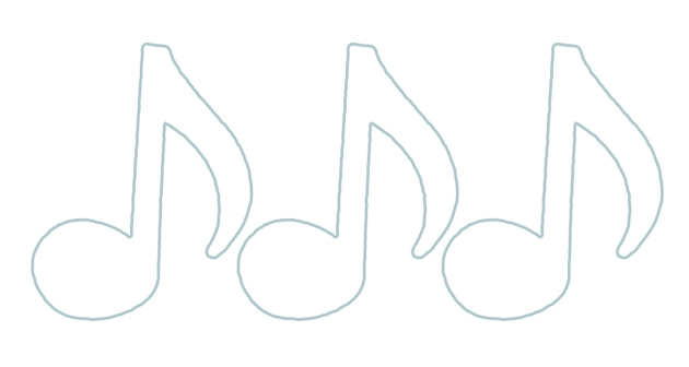 free printable music note pattern