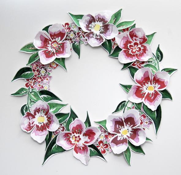 free printable paper wreaths gratuit couronne de porte fleur 2