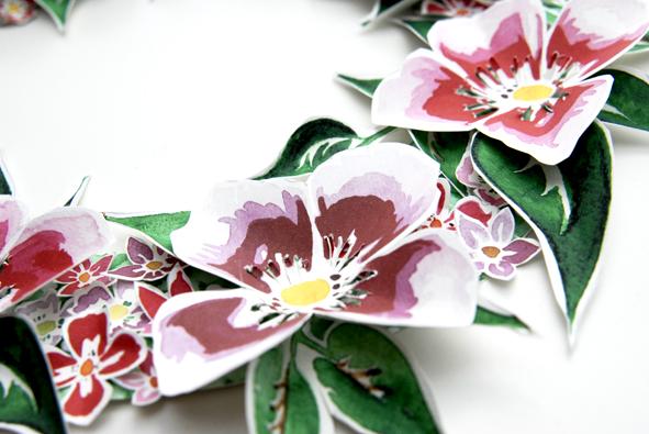 free printable paper wreaths gratuit couronne de porte fleur 4