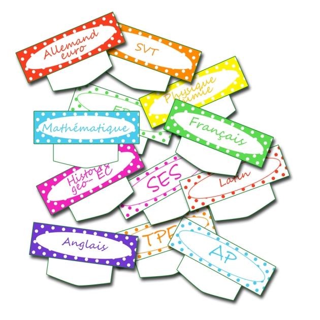 free printable school label planning- étiquette emplois du temps à imprimer gratuitement bleu