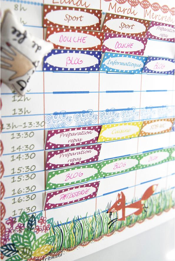 free printable school planing-emplois du temps à imprimer gratuitement mum 1