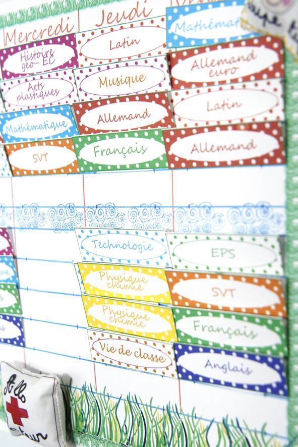 free printable school planing-emplois du temps à imprimer gratuitement shanaz 2