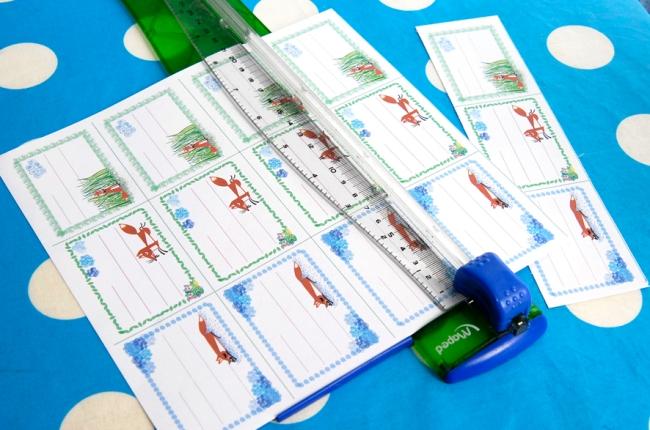 free printable scool book labe little foxl-étiquettes à imprimer gratuitement image 2