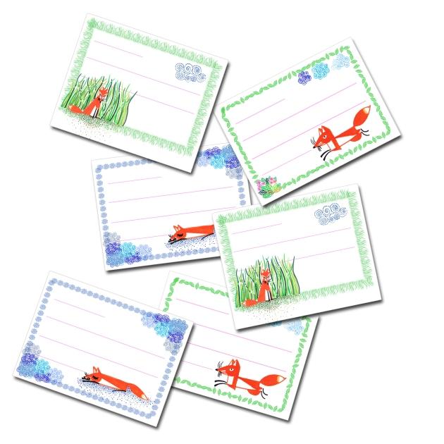 free printable scool book labe little foxl-étiquettes à imprimer gratuitement