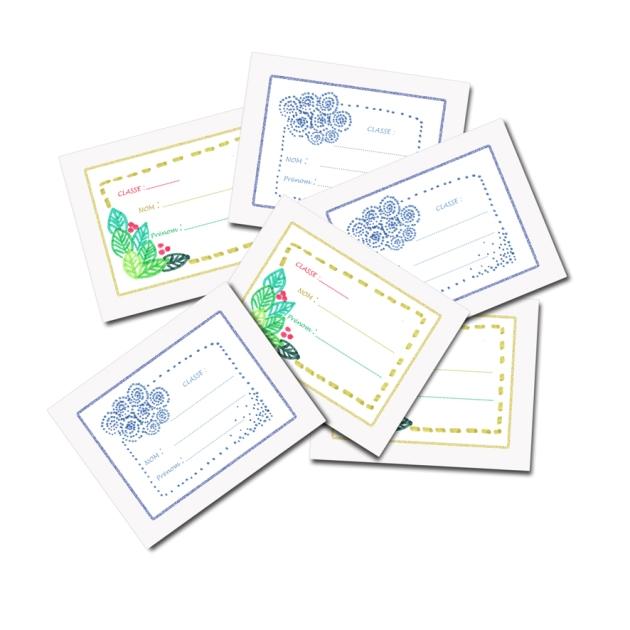 free printable scool book label-étiquettes à imprimer gratuitement