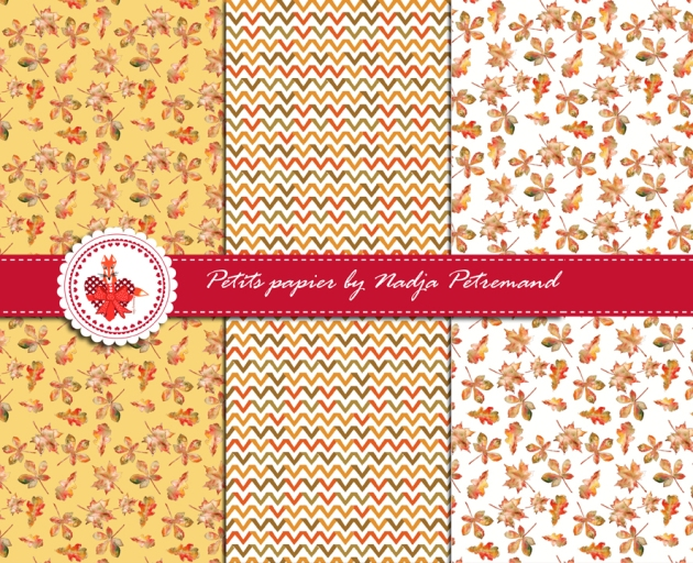 free printable scrap paper motif automne