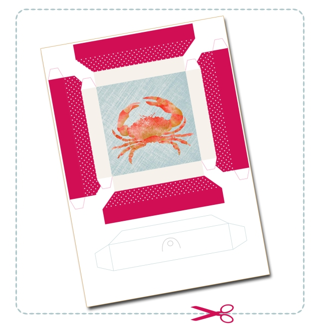 free printable shell collection box 2