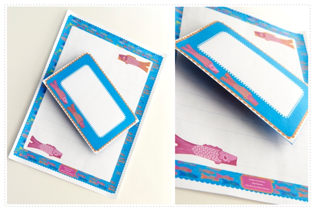 free printable stationary koinobori