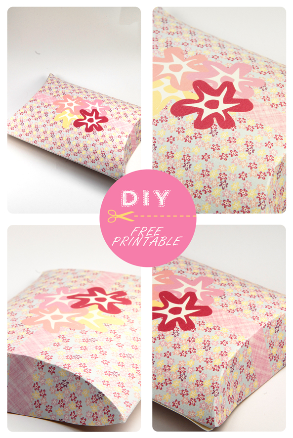 free printable valentine pilow box flower pattern 8