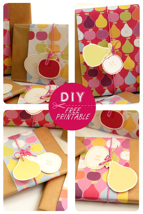 free printable wrap paper apple pear 10