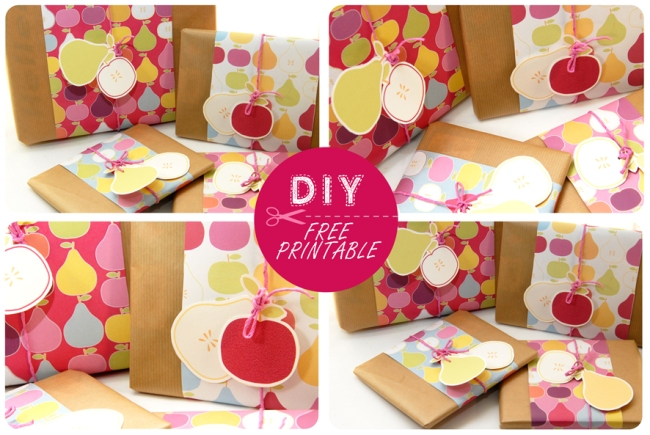 free printable wrap paper apple pear 11