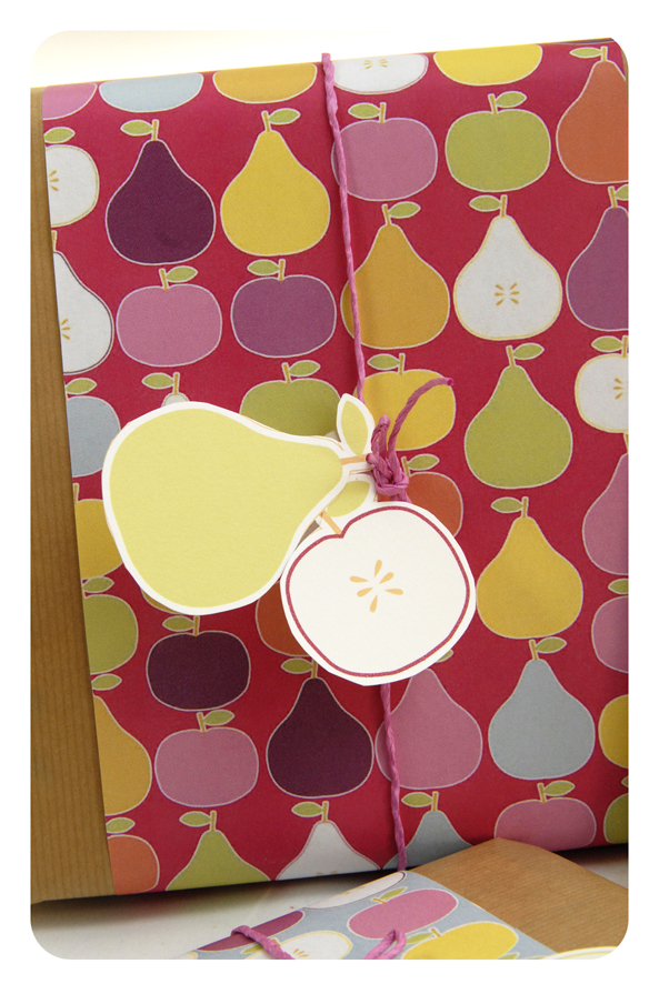 free printable wrap paper apple pear 5