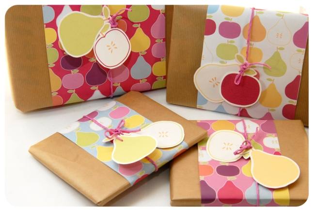 free printable wrap paper apple pear 9